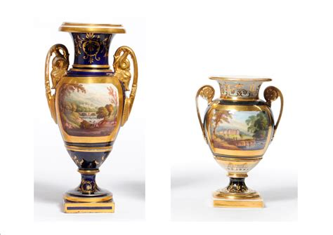 Tennants Auctioneers An English Porcelain Urn Shaped Vase