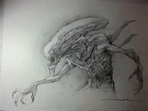 xenomorph tattoo design by havocschion drawing speed drawing alien youtube