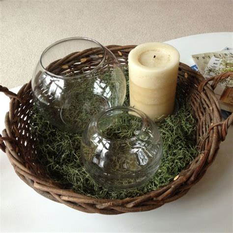 Things To Put In Decorative Bowls by Coffee Table Centerpiece Made With Things Around The House