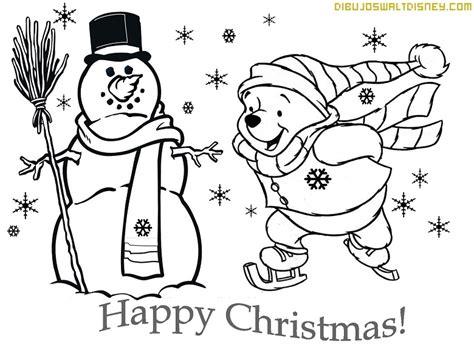imagen de winnie pooh de navidad para colorear imagenes winnie pooh patinando en navidad