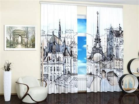 travel curtains modern window treatments with art prints enhancing travel