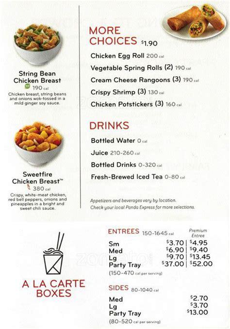 Panda express menu | Panda Express Nutrition Facts - 2018 ... Nutrition Menu Panda Express