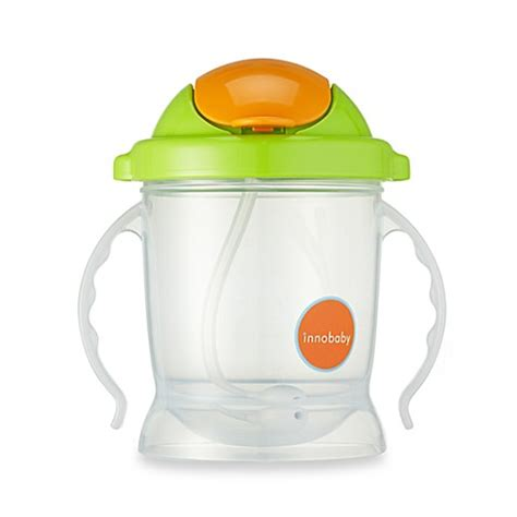 Innobaby Sippin Smart Ez Flow Stainless Sippy Green buy innobaby sippin smart ez flow straw sippy 10 ounce in green from bed bath beyond