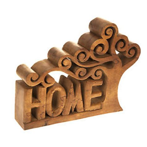 decorative ornaments for the home uk large wooden tree home letters sign word ornaments home decor vintage gift new ebay
