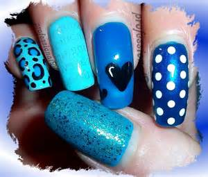 blue nail art for autism awareness youtube
