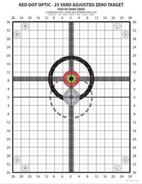 printable mil dot targets all for the armory on pinterest rifles firearms and pistols