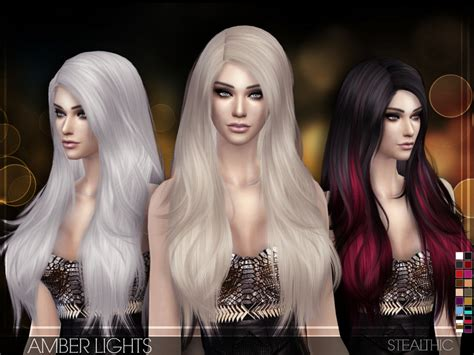 sims 4 female hairstyles the sims resource stealthic amber lights female hair