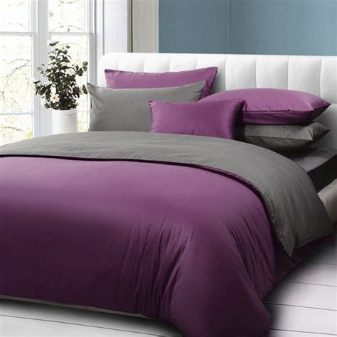 purple and grey bedding 25 best ideas about purple bed on pinterest purple
