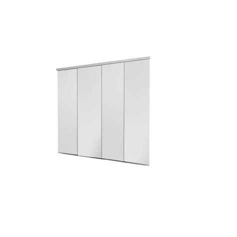 Impact Plus Closet Doors Impact Plus 144 In X 84 In Smooth Flush White Solid Mdf Interior Closet Sliding Door With