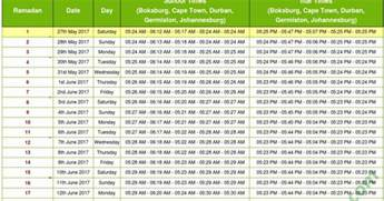 South Africa Calendrier 2018 Ramadan 2018 South Africa Calendar With Prayers Timetable
