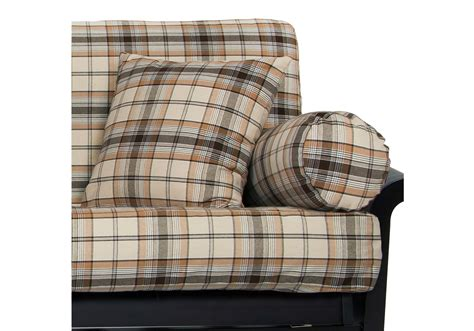 plaid futon cover rust denim plaid futon cover