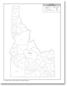 Idaho County Map Outline by Stockmapagency Political Map Of Idaho With County Data