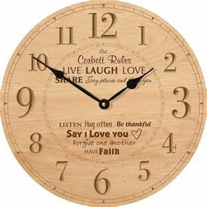 family rules personalized wall clock clocks