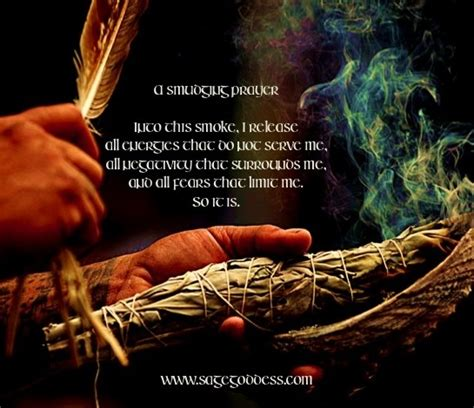 the healing power of smudging cleansing rituals to purify your home attract positive energy and bring peace into your books a smudging prayer for your magical practice ceremony