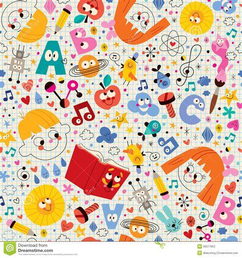 pattern design school knowledge education learning school kids pattern stock
