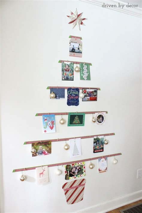 Unique Kitchen Gift Ideas - displaying cards with a diy christmas card tree driven by decor