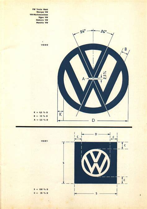 volkswagen old logo plain note recreated vintage vw logo specification