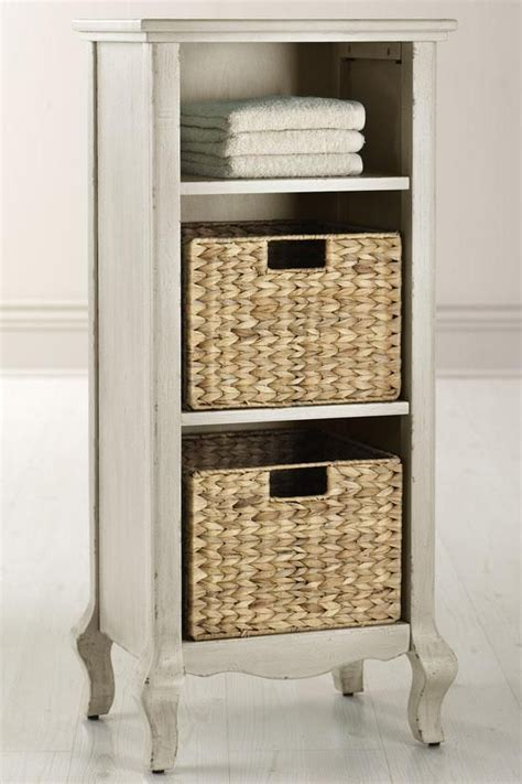 Bathroom Storage Units With Baskets Camille Storage With Baskets Spaces Bathrooms Pinterest