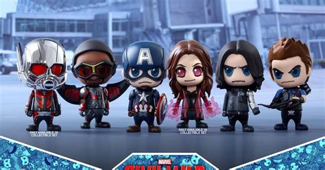 Cosbaby Set Of 5 Civil War New Misb toys adorable cosbaby captain america civil war