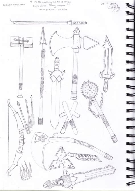 doodle how to make weapon how to draw melee weapons
