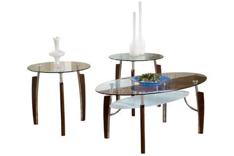 cocktail tables and end tables modern wood glass cocktail table 2 end tables at