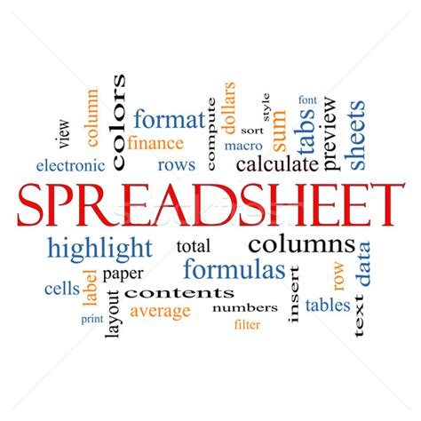 Cloud Spreadsheet by Spreadsheet Word Cloud Concept Stock Photo 169 Keith Bell