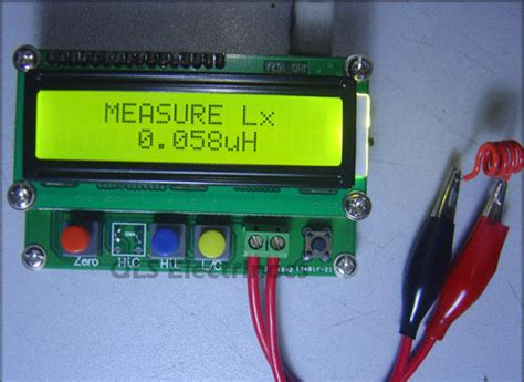 test for inductor lc meter lc100 a