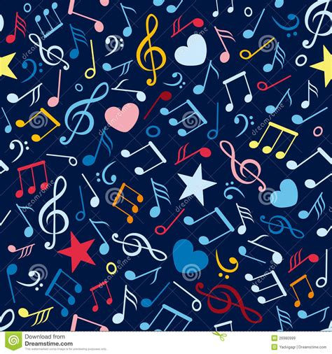 pattern making notes free colorful seamless pattern with music notes royalty free