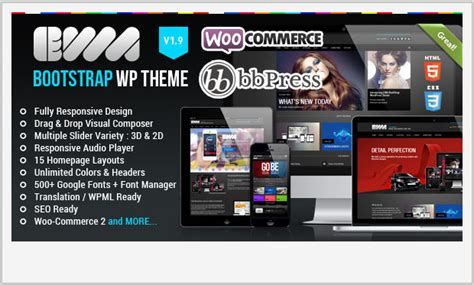 enfold theme bootstrap 20 awesome twitter bootstrap wordpress themes wptemplate com