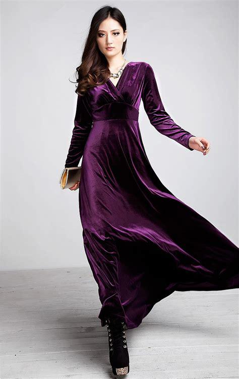 New Velvet Warm Plus Size Winter Ankle Length Dress Women