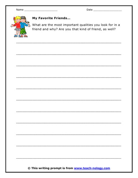 Friendship Worksheets by