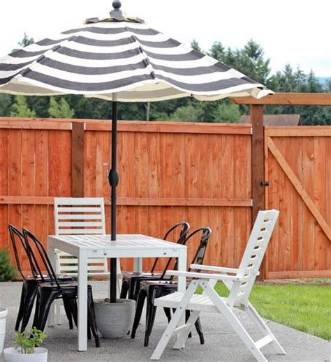 Diy Patio Umbrella Stand Affordable Patio Diy Umbrella Stand Diyideacenter