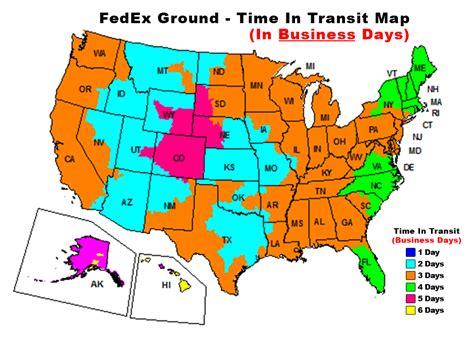 fedex ground map fedex ground shipping map my