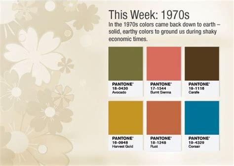 70s colors colors of the 1970s pantone s 50th color palette