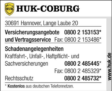 R V Versicherung Auto Telefonnummer by Huk Coburg Schaden Melden In Hannover Mitte Gt Gt Im