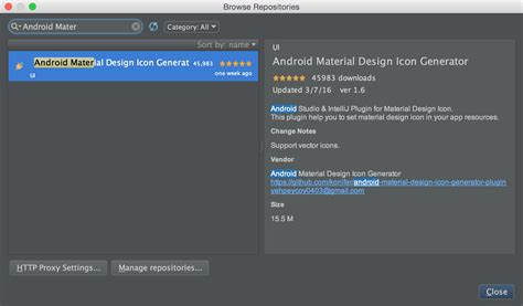 material design icon zip intellij android studio 生成 设计 icon 的插件 安装简单使用方便 android
