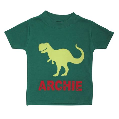 personalised dinosaur t shirt by littlechook