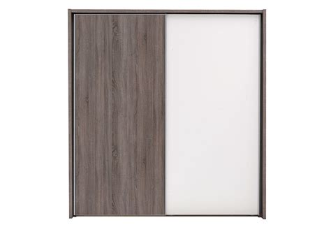 Wardrobes For Sale Melbourne by Melbourne 2 Door Medium Sliding Wardrobe Oak And White