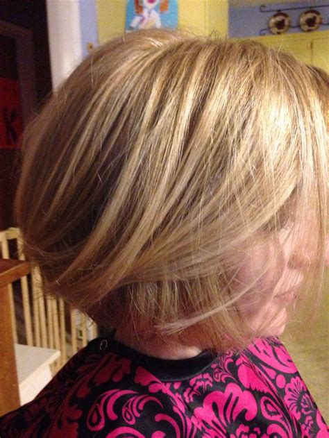stacked bobs unique dye stacked bob with blonde on blonde color hair pinterest