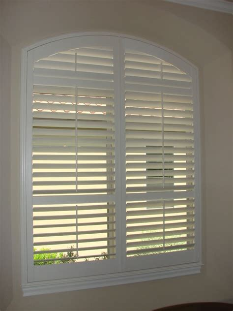 Arched Window Blinds Arch Shutters Traditional Window Blinds Other Metro