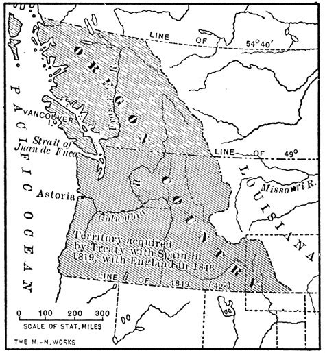 oregon country map 1846 the oregon country