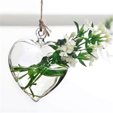 glass hanging planter container vase pot home