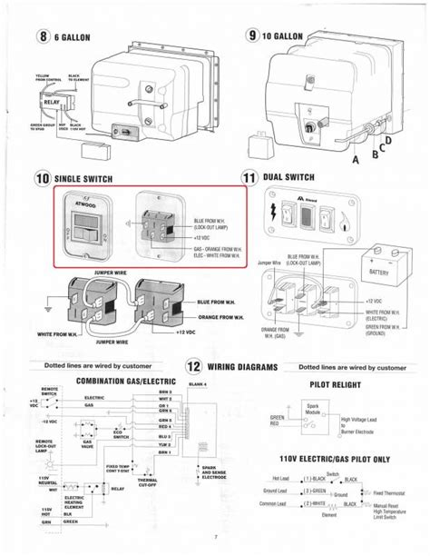 atwood gc6aa 10e wiring diagram rv water heater exploded