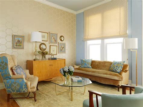 blue and cream living room photo page hgtv