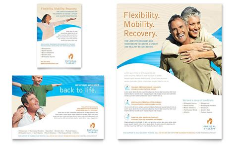 Physical Therapist Flyer Ad Template Design Physical Therapy Brochure Templates