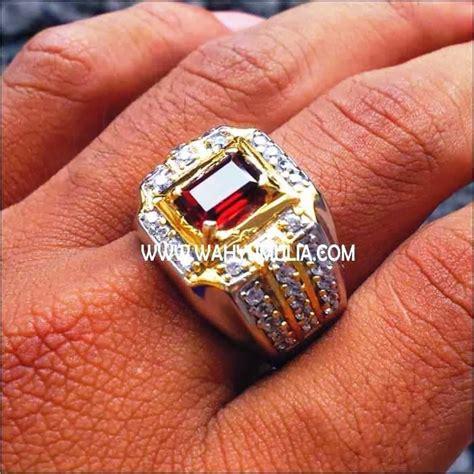 Permata Cincin Garnet batu cincin permata garnet kode 133 wahyu mulia