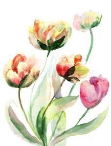 Bloom Box Flowers - decorative watercolor flowers stock photo colourbox
