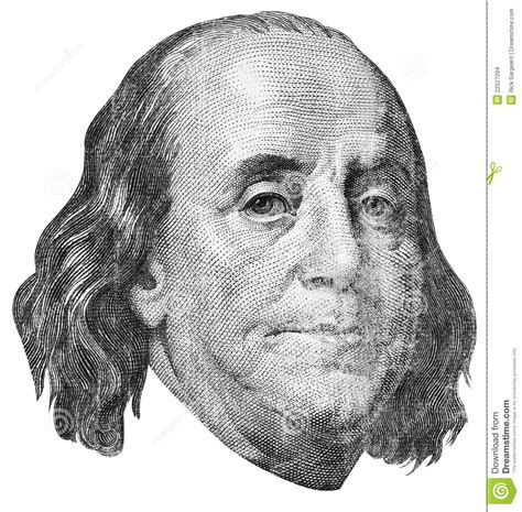 benjamin franklin engraving stock photo image 22527294