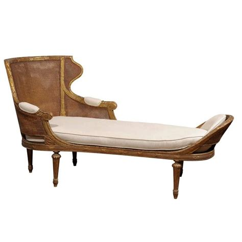 french style chaise french louis xvi style giltwood double cane chaise longue