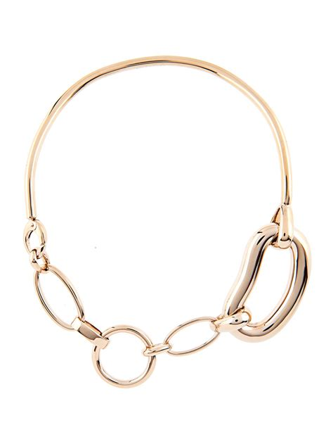 chain links for jewelry lyst balenciaga oval chain link brass necklace in metallic